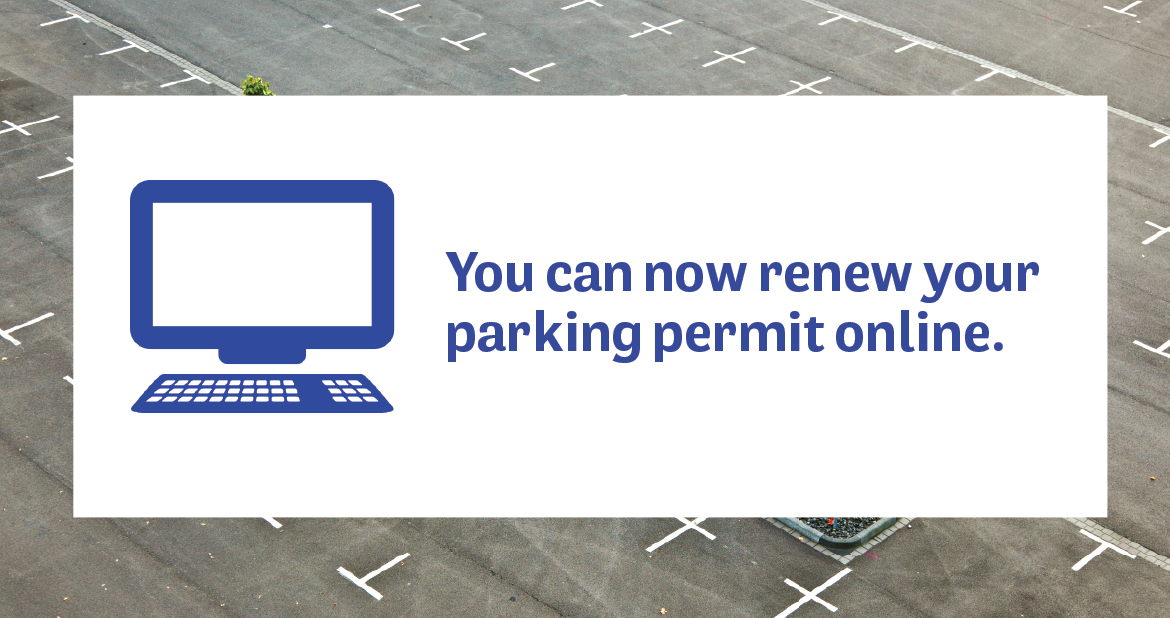 You can now renew your parking permit online