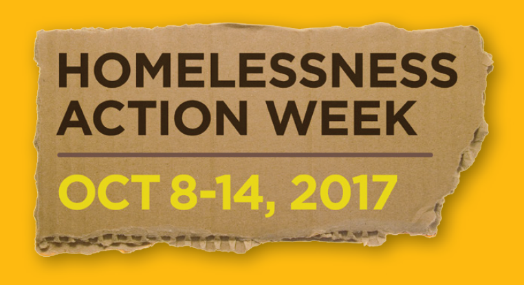 Homelessness Action Week - Oct 8-14, 2017